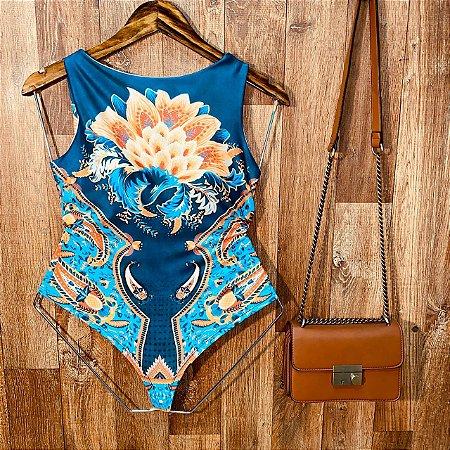 Body Feminino Regata Tatiana Azul