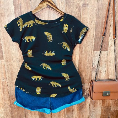 T-shirt Tigre Dupla Estampa