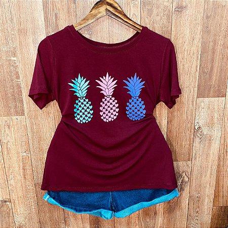 Camiseta Trio de Abacaxi