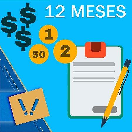 Planilha Excel De Cálculo Para Orçamento Familiar Pessoal Simples 12 MESES