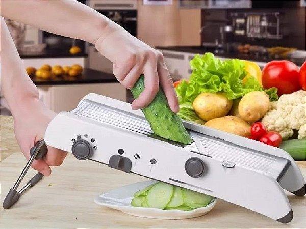 Cortador Fatiador De Legumes De Inox Manual Com Regulagem (SIMILAR Pl8 Professional Mandoline)