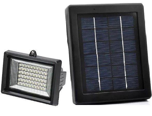 Refletor Luminária Solar Potente 60 Leds Branco Frio