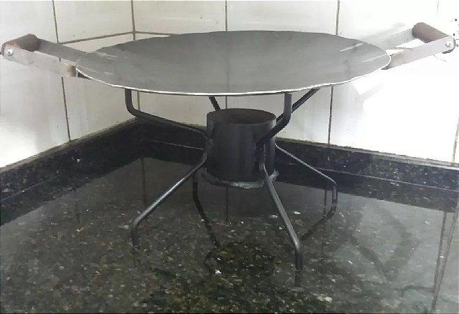 Disco De Arado Tacho 50cm Suporte Álcool 80cm Tripé Removível