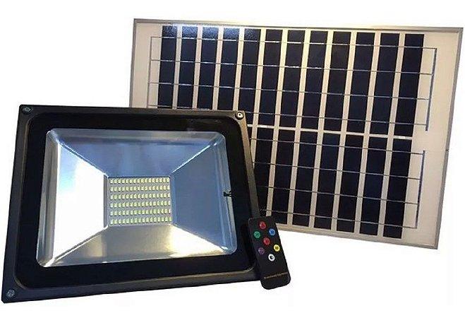 Holofote Refletor SOLAR 50w Prova D'àgua Energia Solar Bateria