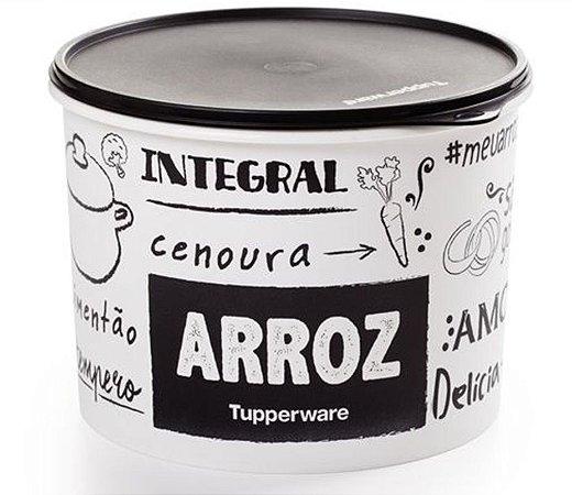 Tupperware Caixa Arroz 5kg PB Cores Preto E Branco Com Inscrições