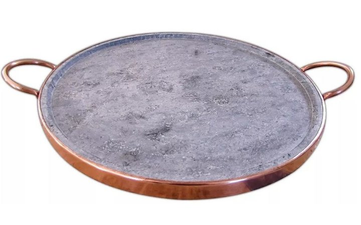 Forma De Pizza 42 Cm Extra Grande Em Pedra Sabão Natural