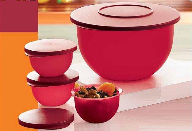 Kit Tupperware Tigelas Porta Alimentos Murano 04PÇ 2,5L 200ml 200ml 200ml