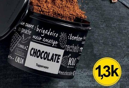 Porta Alimentos Pote Tupper Caixa Chocolate PB 1,3Kg