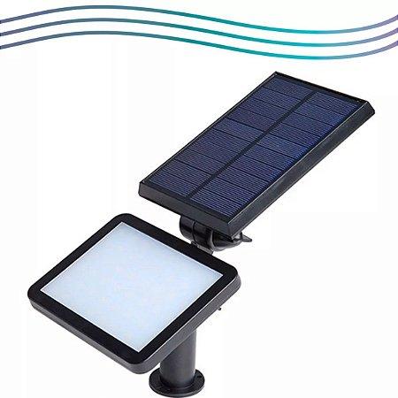 Refletor Solar Luminaria Espeto Jardim Parede 60w 60 Leds Luz Frio Iluminação Externa