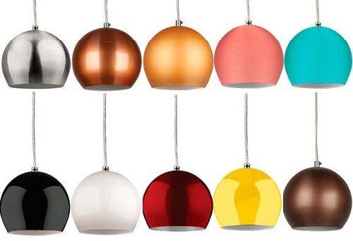 KIT 3 Luminarias Pendentes De Teto Mesa Sala Cozinha Balcão Lustre Bola P Colorido