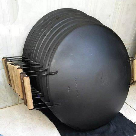 Disco De Arado Original Para Carne Churrasco Fritar Cozinhar Com Alça 46 Cm