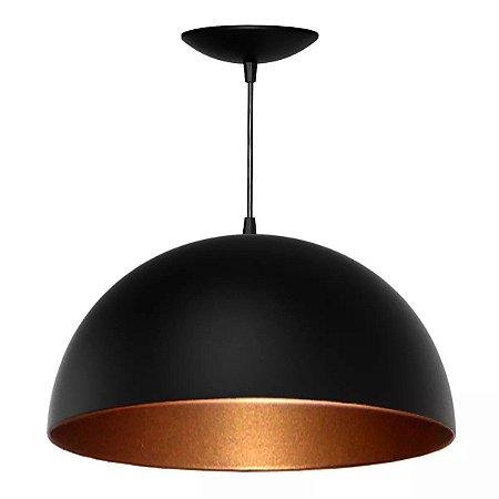 Luminaria Pendentes De Teto Mesa Balcão Meia Esfera 50Cm Lustre Sala Cozinha Bancada Quarto