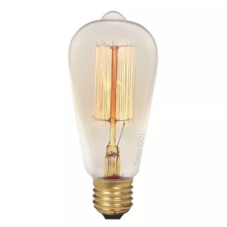 Lâmpada Retro Filamento De Carbono Vintage 40w Luminaria Pendente Lustre
