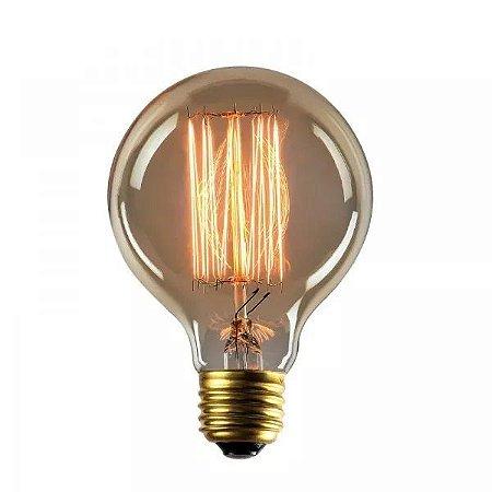 Lâmpada Filamento De Carbono Retro Vintage G80 Para Pendente Luminaria Lustre