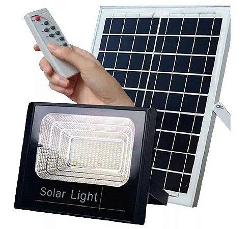 Refletor Luminaria Solar 40w Prova D'àgua Com Controle Remoto Holofote + Painel