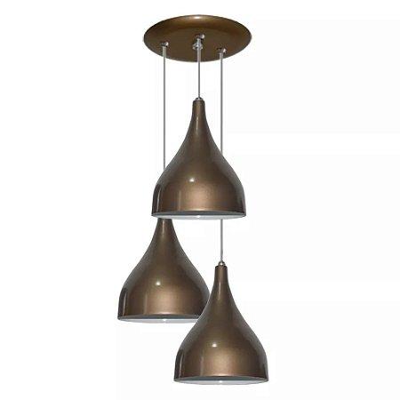 Luminaria Pendente Triplo Gota Lustre Para Teto Mesa Sala Cozinha Quarto