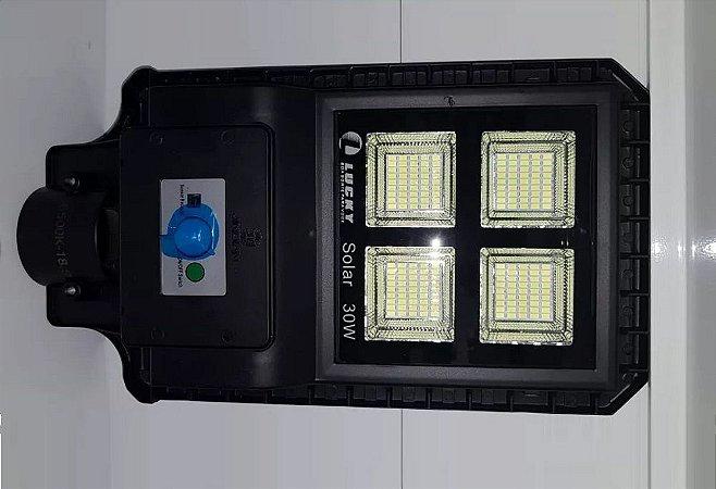 Luminária Refletor Solar 30W De Poste Led Ip66 Com Controle Remoto