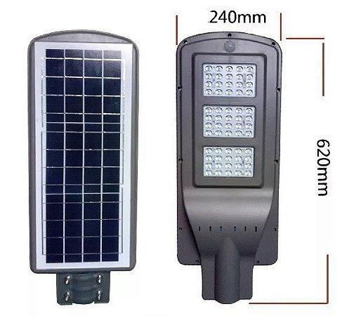 Luminária Refletor Solar Led 60W De Poste Sensor Movimento E Controle Remoto