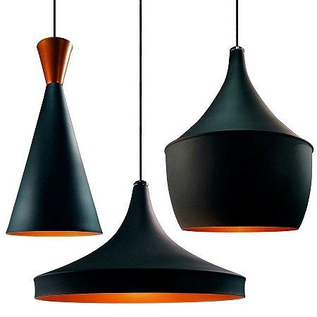 Kit 3 Lustres Pendentes Cores Dixon De Alumínio - Luminária Teto Mesa Cozinha Sala