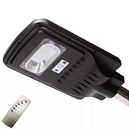 Luminária Refletor De Energia Solar De Poste Pública Led 20w C/ Sensor E Controle