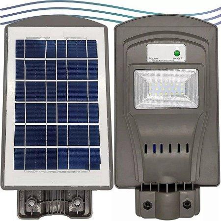Luminária Refletor Solar Pública Poste Led 50W Com Sensor De Movimento