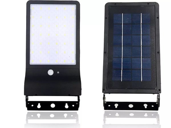 Luminária Lâmpada Solar De Parede E Jardim 30W Com Sensor De Movimento