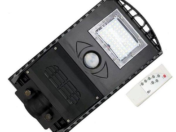 Luminária Refletor Solar De Poste 50w Com Sensor Movimento E Controle Remoto