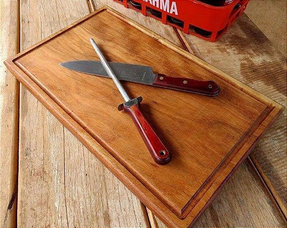 Tabua De Madeira Para Carne Churrasco Macica 50x30x5cm Corte Cozinha