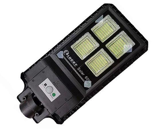 Refletor Luminária Energia Solar Pública Poste Led 60w Sensor Movimento E Controle