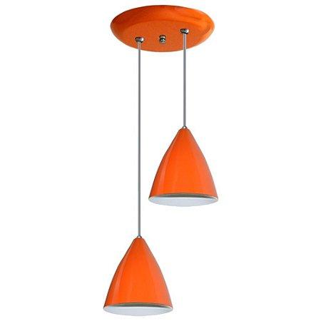 Lustre Duplo Pendente Luminaria Coloridos Sala Quarto Cozinha Teto