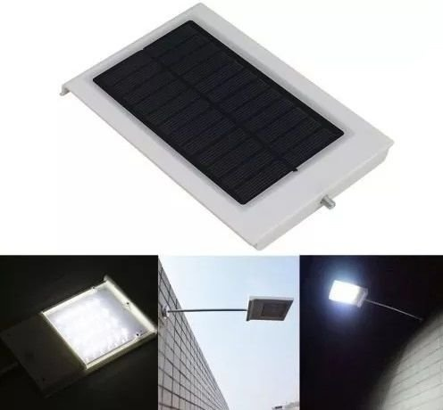 Luminaria Energia Solar De Leds 10W Parede Postinho Muro Jardim