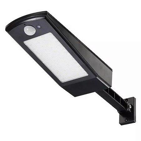 Luminária Refletor Solar De Parede Muro 50W Leds Potente Sensor Movimento