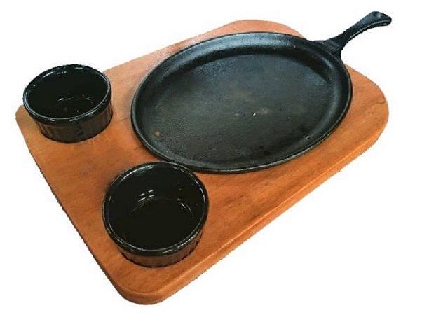 Tabua Picanheira Para Servir Carne Churrasco Petiscos Kit 4 Peças