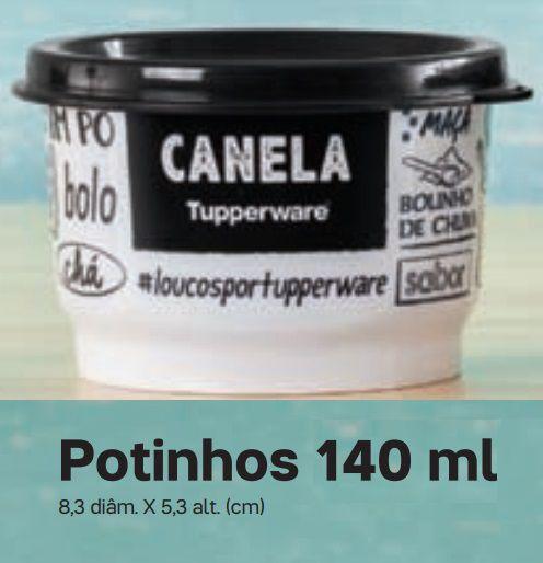 Tupperware Potinho Porta Temperos Canela 140ml Desenho PB