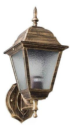 Arandela Colonial Alumínio E Vidro Cor Ouro Velho Bocal E27