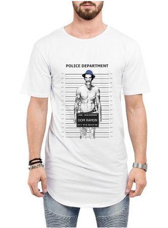 fa2959891 Camiseta Long Line Oversized Masculina Seu Madruga Mau Cadeia Camisetas  Barra Curvada - Camisetas Personalizadas