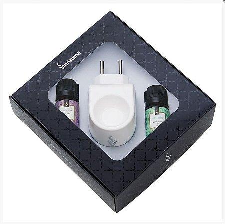 Kit Presente Aromatizador Standard Via Aroma + 02 Essências Bamboo e Lavanda