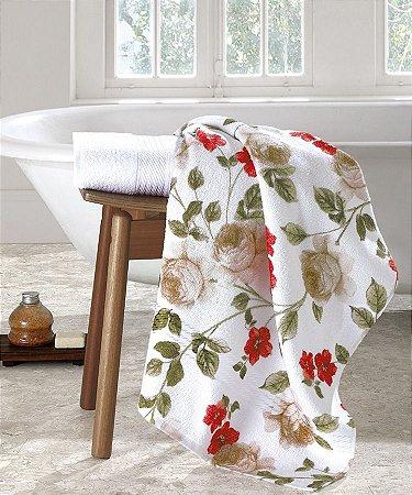 Toalha de Banho Prisma Dohler Estampada Floral Fiore