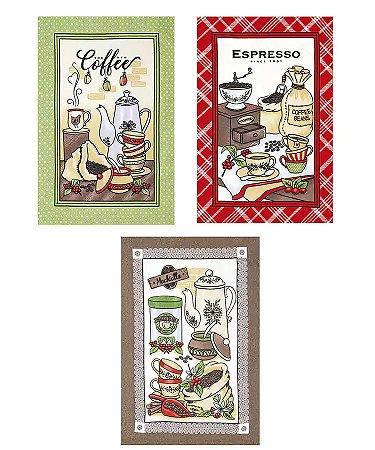 Kit Pano de Copa Felpudo Prata 3 peças Dohler Coffee 04