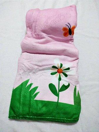 Manta Baby Confort Microfibra Estampada 90cm x 1,20m Flores