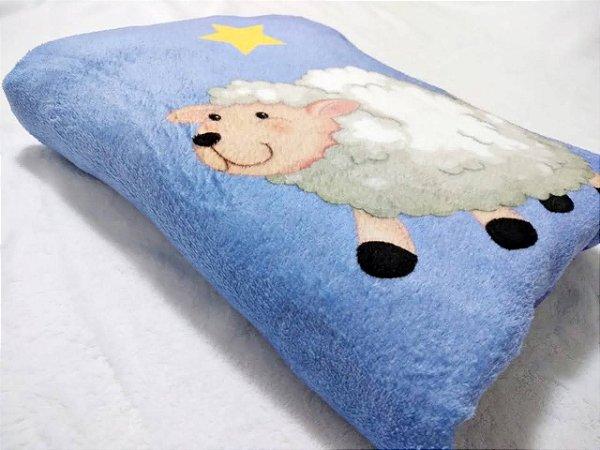Manta Baby Confort Microfibra Estampada 90cm x 1,20m Carneirinho