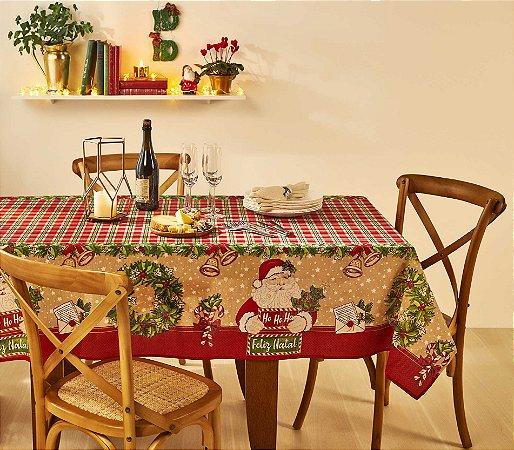 Toalha de Mesa de Natal Retangular 8 Lugares Lepper Noel