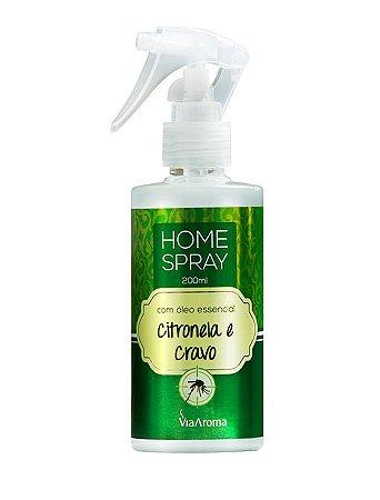 Home Spray com Óleo Essencial de Citronela e Cravo 200mL Via Aroma