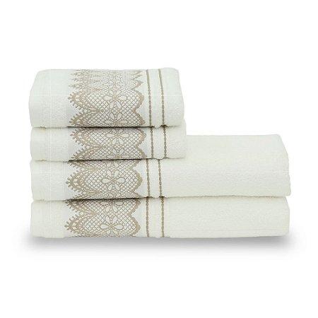 Jogo de Banho Santista 4 peças Blanc Branco