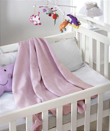 Cobertor de Algodão Baby Premium Ninho Jolitex Rosa