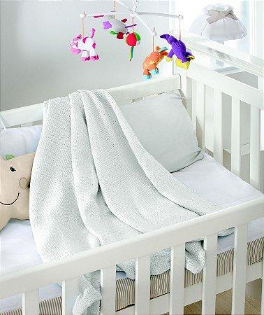 Cobertor de Algodão Baby Premium Ninho Jolitex Branco