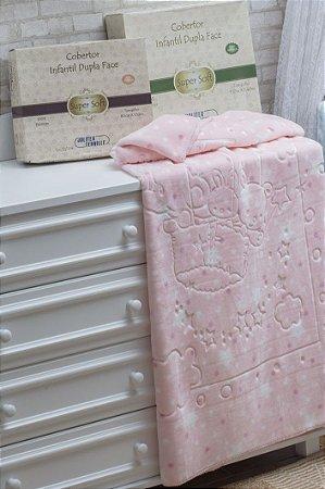 Cobertor Baby Dupla Face Super Soft Jolitex Rosa