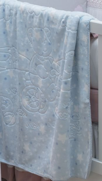 Cobertor Baby Dupla Face Super Soft Jolitex Azul