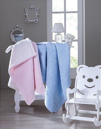Cobertor Infantil Bebê Carneirinho Jolitex Rosa