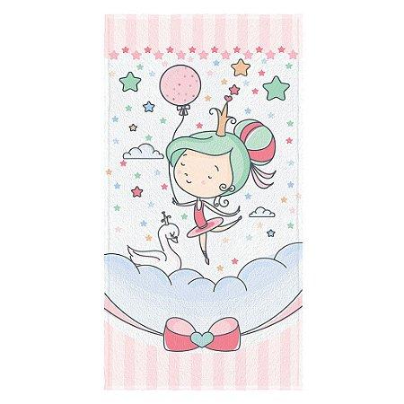 Toalha de Banho Infantil Lepper Ballet Encantado Rosa-claro